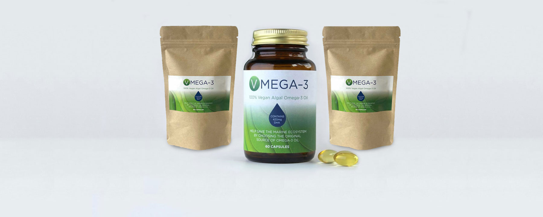 Vegan Omega 3 Algal Oil Capsules The Purest Form Of Omega 3 Hero Shot